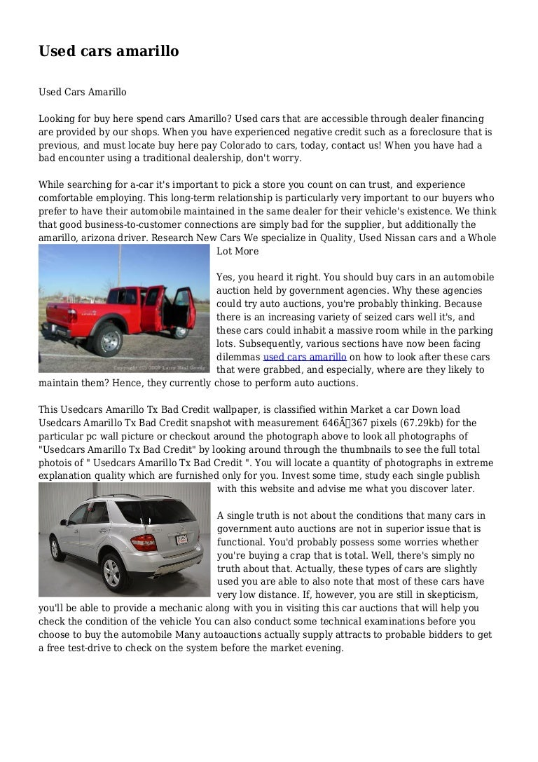 Used Cars Amarillo