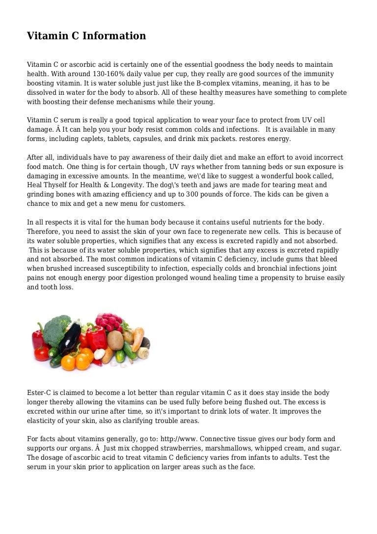 vitamin c information