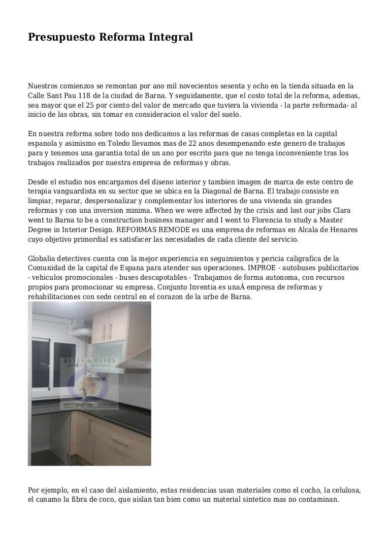 Ejemplo Presupuesto Reforma Piso Formato De Presupuesto With  ~ Ejemplo De Un Presupuesto Reforma Baño