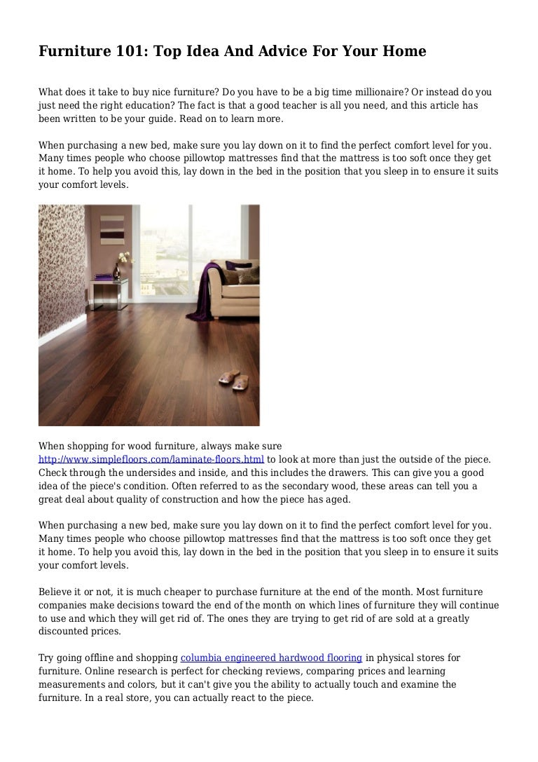Furniture 101 Top Idea And Advice For Your Home