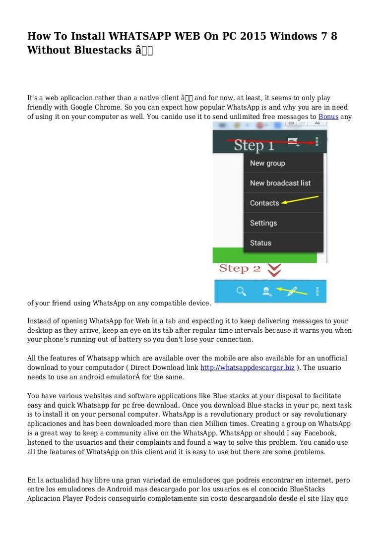 computer whatsapp software download windows 7 free