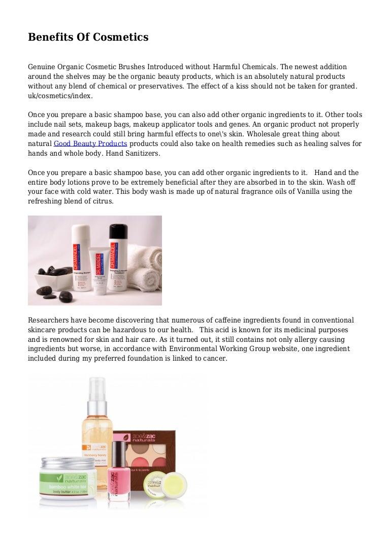 Benefits Of Cosmetics