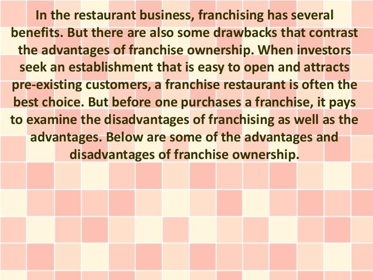 Restaurant Franchising Advantages And Disadvantages