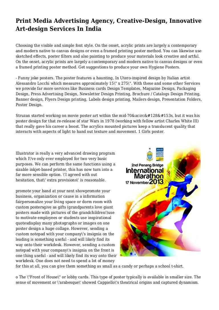 Print Media Advertising Agency Creative Design Innovative Art Desig