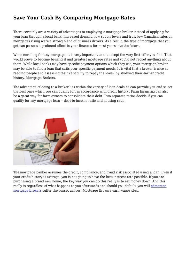 comparing mortgage lenders
