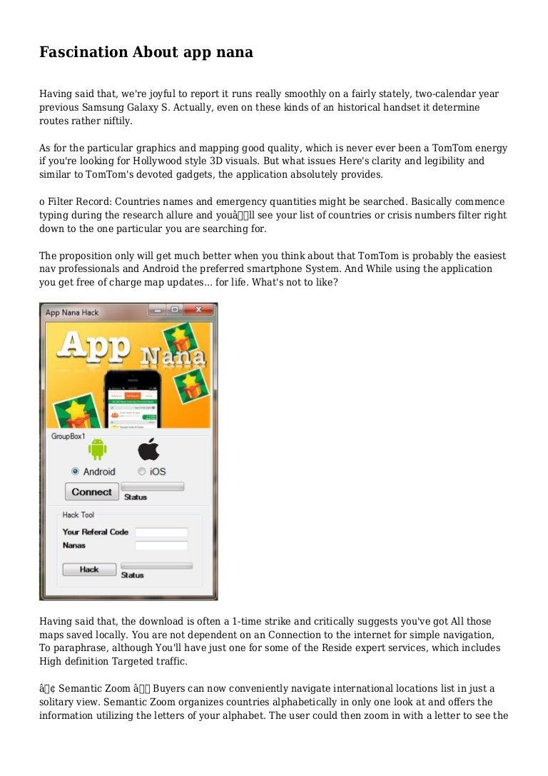 Fascination About app nana