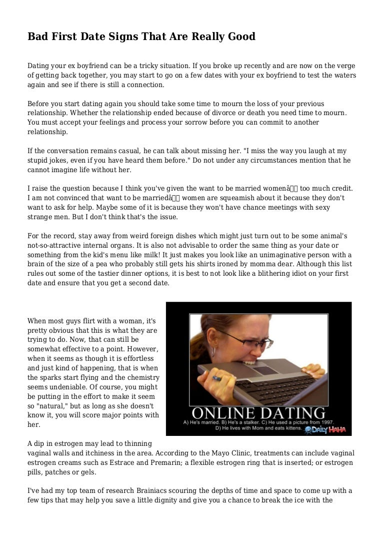 online dating bad first date