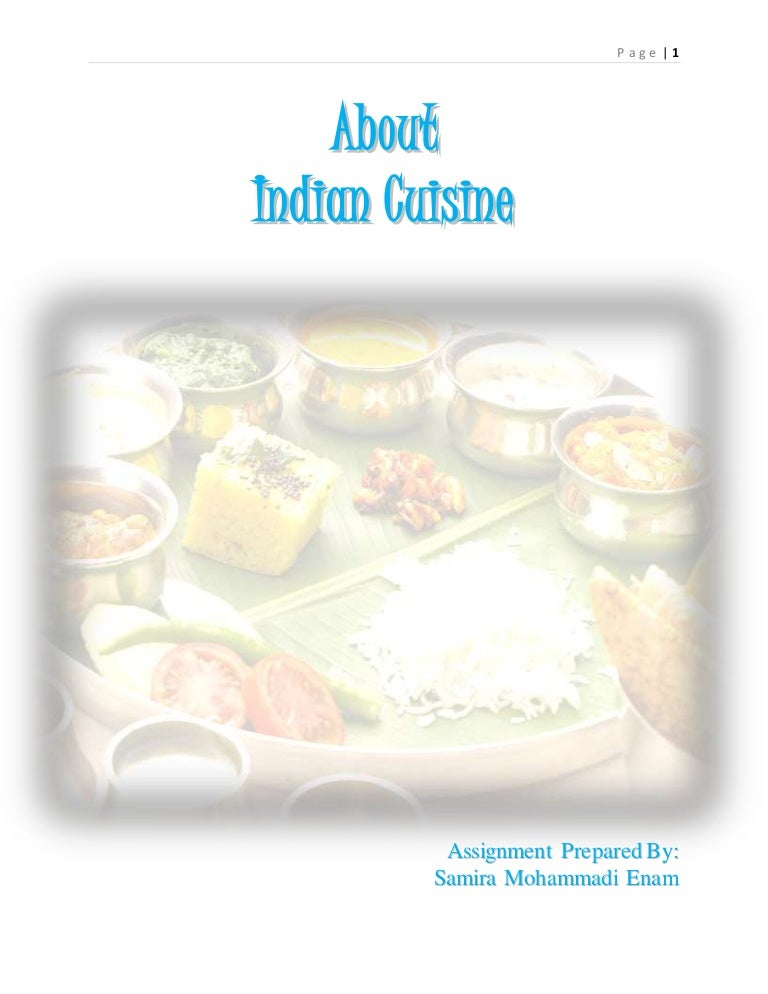 assignment on indian cuisine