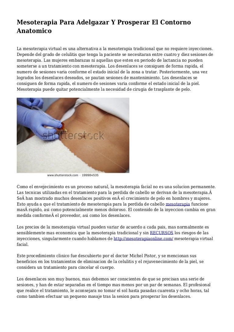 Mesoterapia para adelgazar abdomen