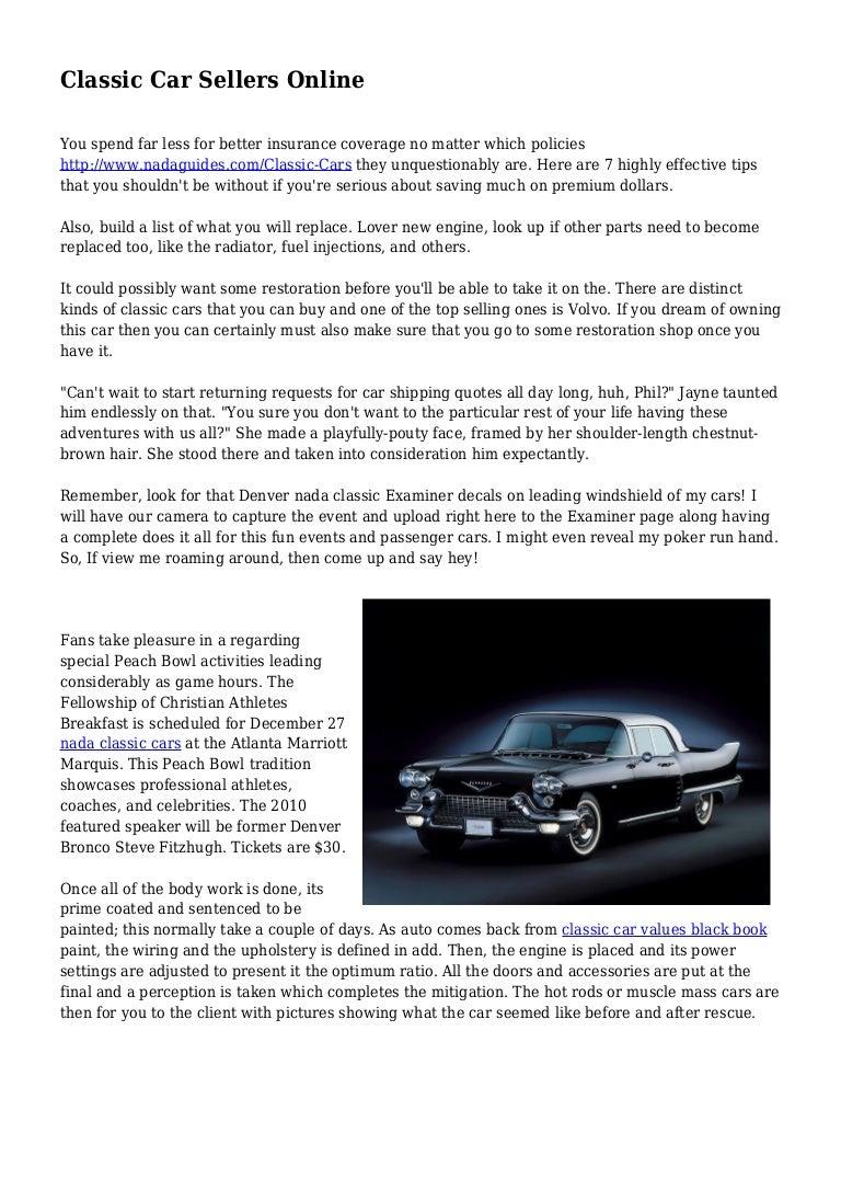 Nada Classic Cars >> Classic Car Sellers Online