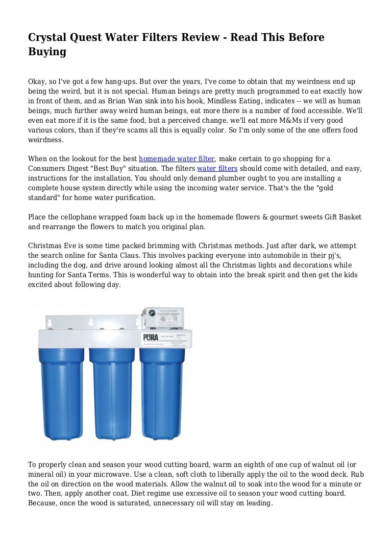Crystal Quest Water Filters Review - Read This Before Buying