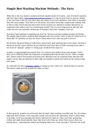 Simple Best Washing Machine Methods - The Facts
