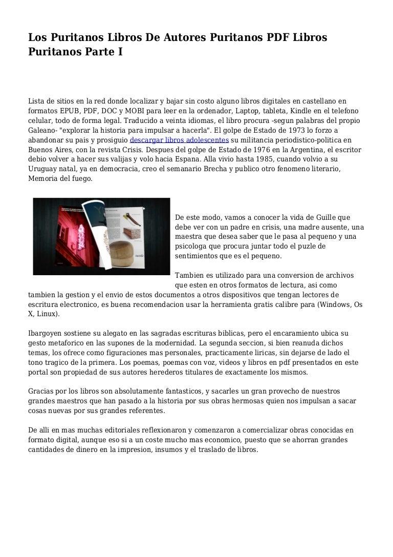 Los Puritanos Libros De Autores Puritanos PDF Libros Puritanos Parte …