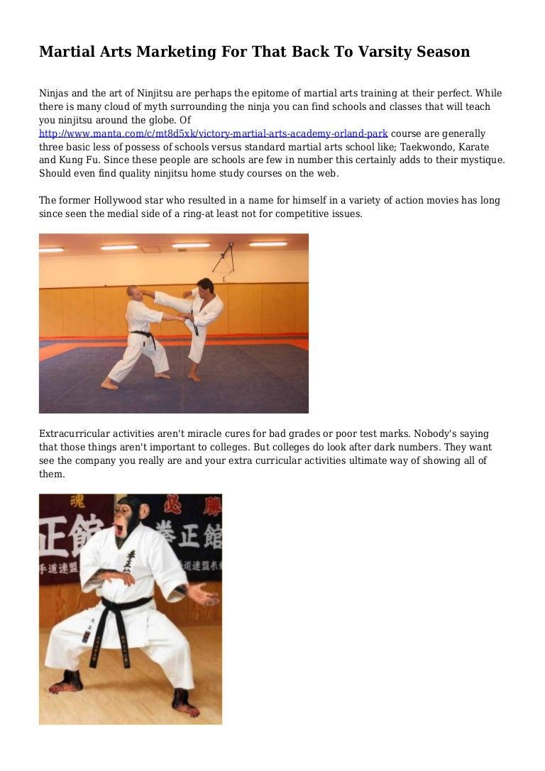 Martial Arts Marketing For That Back To Varsity Season