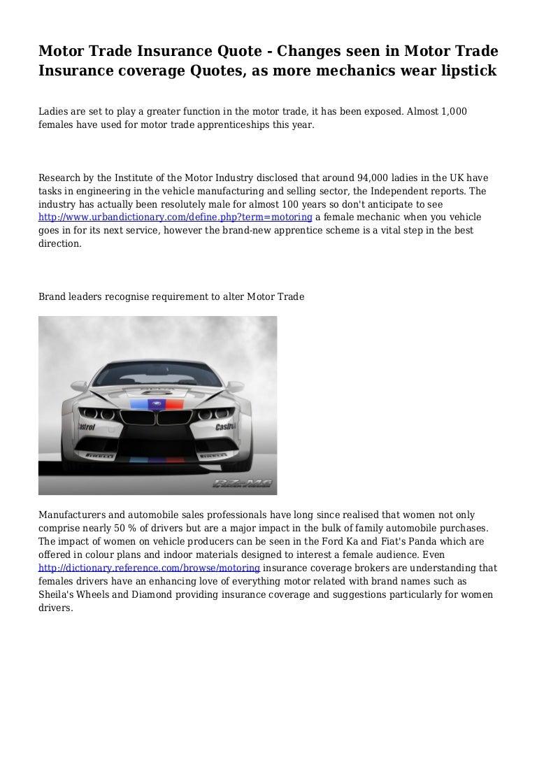 Triple A Insurance Quote Motor Trade Insurance Quotes  44Billionlater