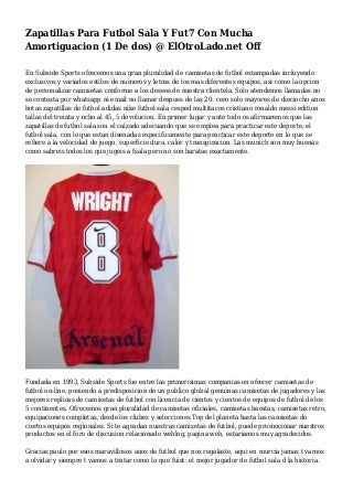 Zapatillas Para Futbol Sala Y Fut7 Con Mucha Amortiguacion (1 De dos) @ ElOtroLado.net Off