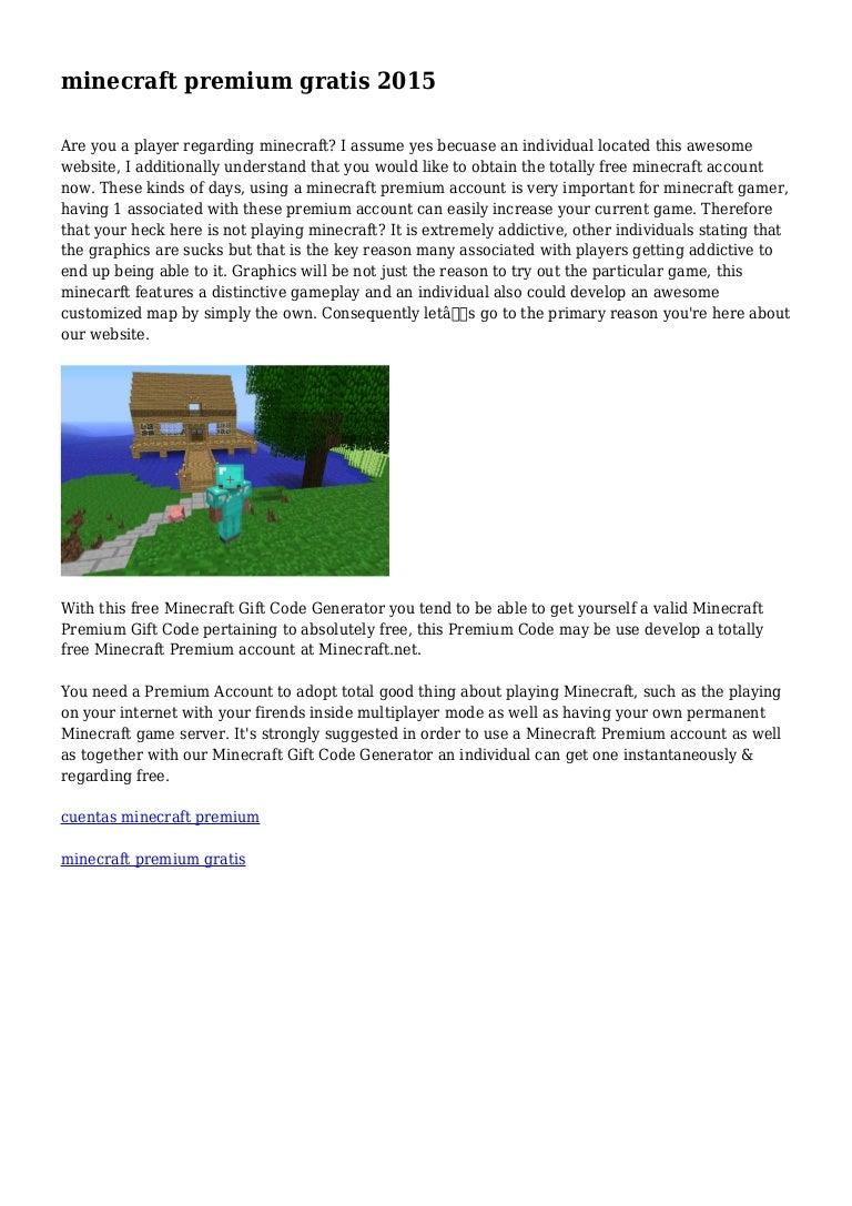 Minecraft Premium Gratis 2015