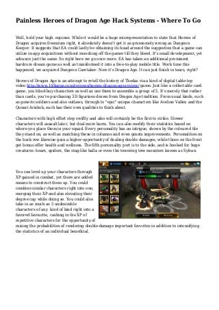 Painless Heroes of Dragon Age Hack Systems - Where To Go