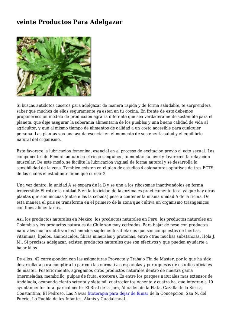 Mexico hierbas para adelgazar