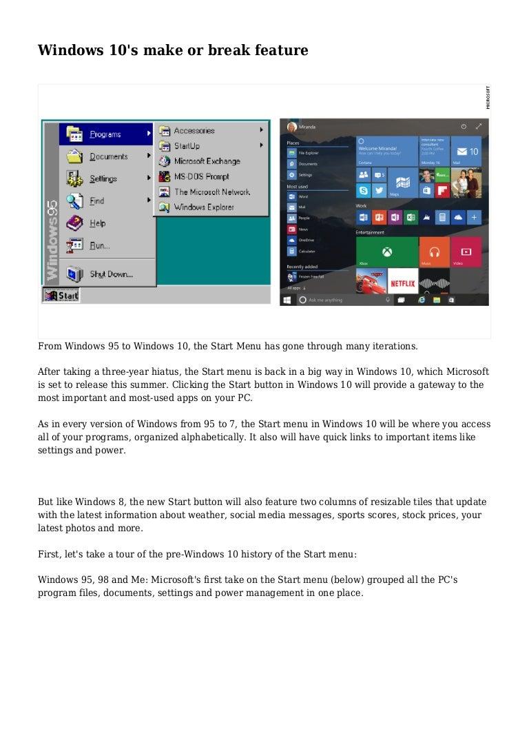 Windows 10's make or break feature