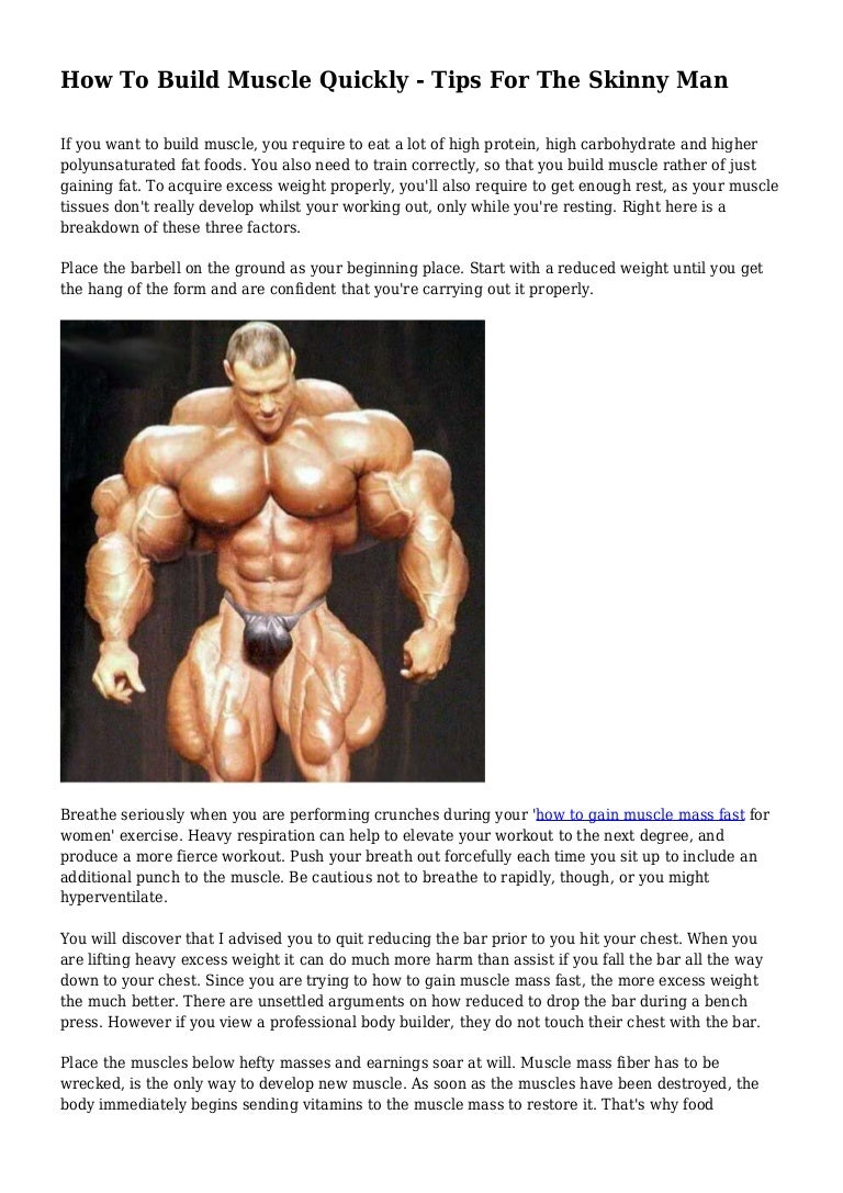 How to restore muscle 60
