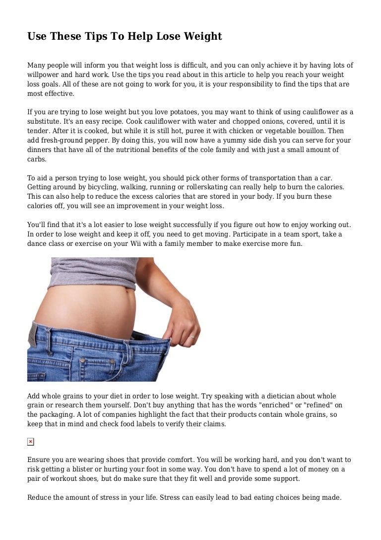 use these tips to help lose weight