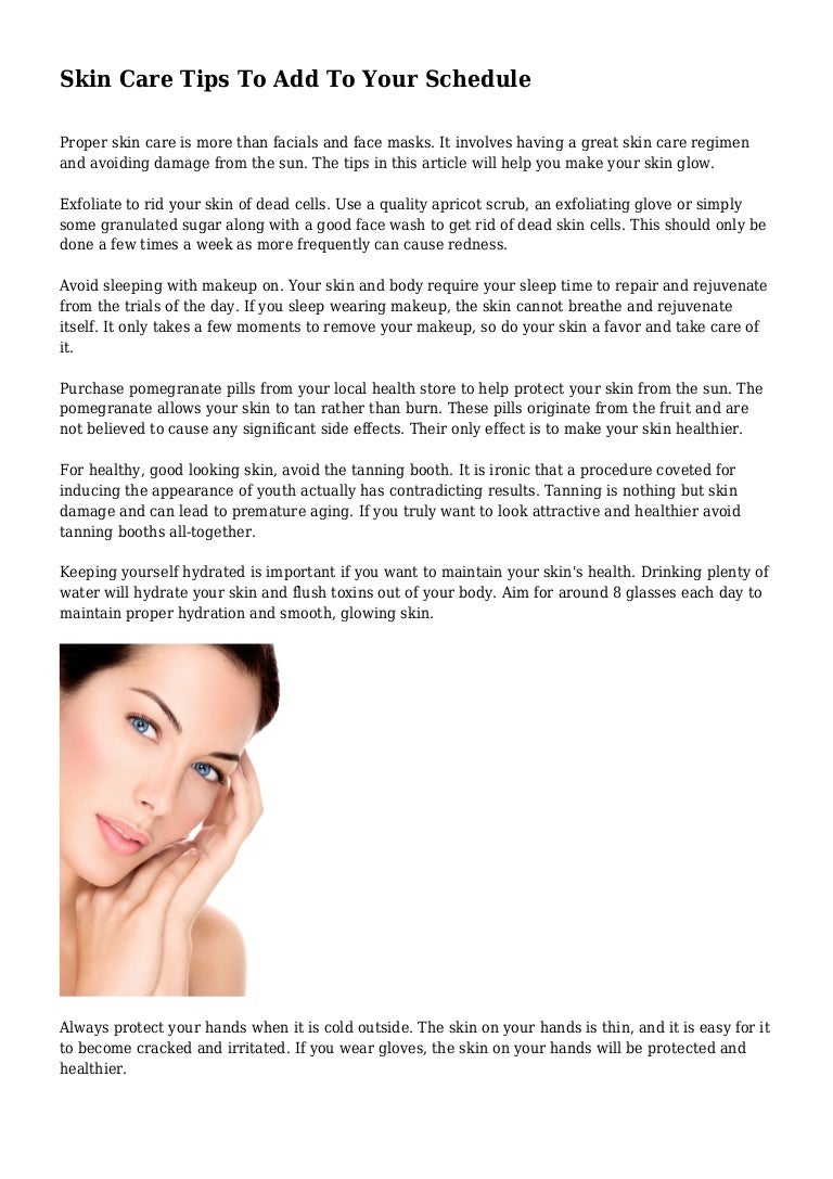 Get Great Skin—On Your Schedule