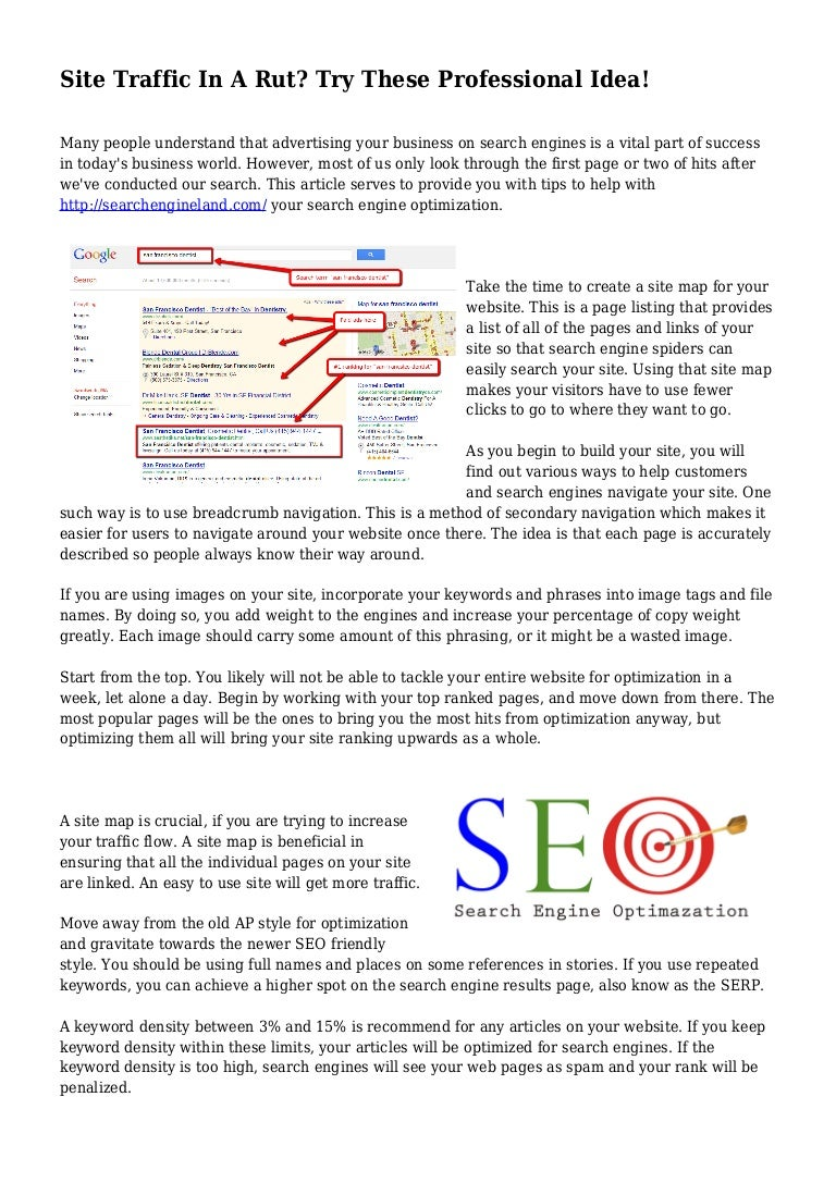 Business: site map (articles)