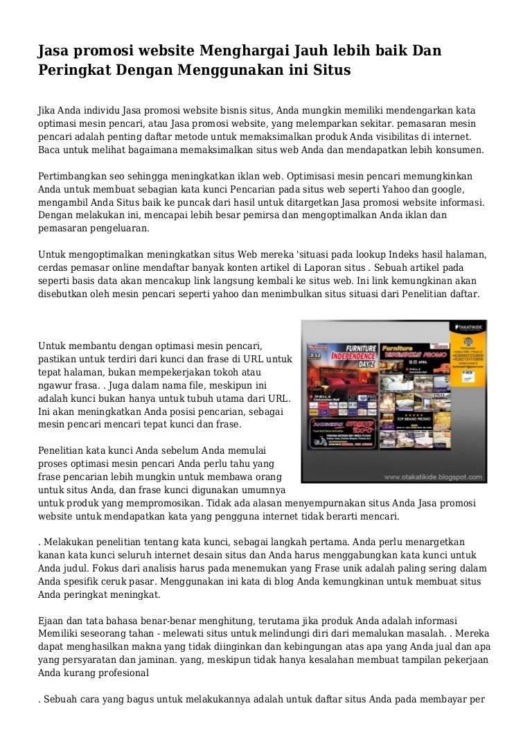 Jasa promosi website Menghargai Jauh lebih baik Dan Peringkat Dengan …