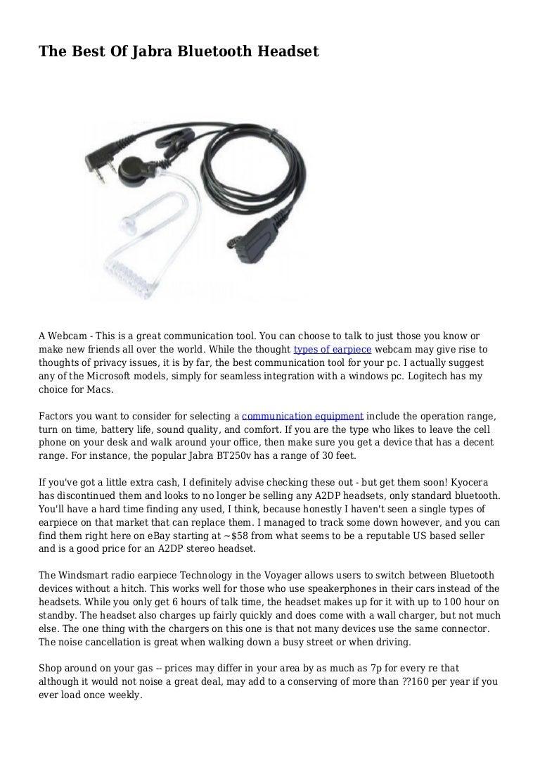 How to Choose a Jabra Bt 250V Bluetooth Headset pics