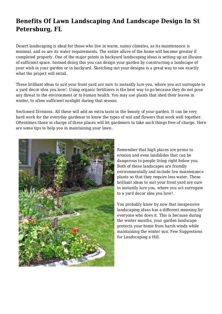 Benefits Of Lawn Landscaping And Landscape Design In St Petersburg, FL
