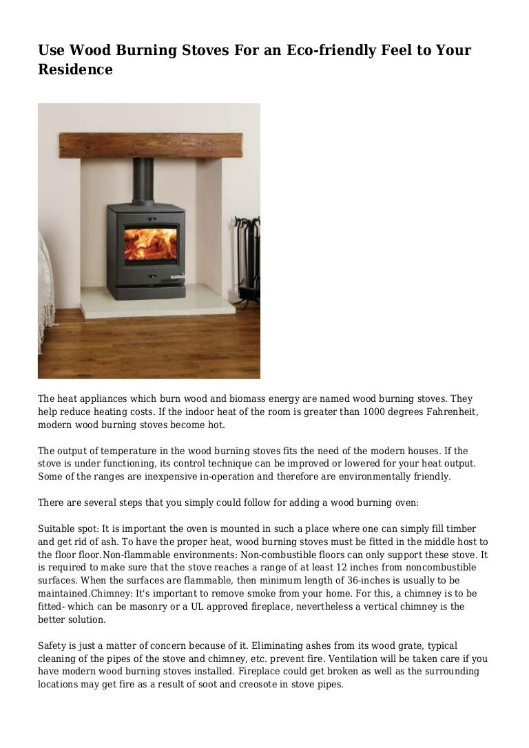 Use Wood Burning Stoves For an Eco-friendly Feel to Your Residence