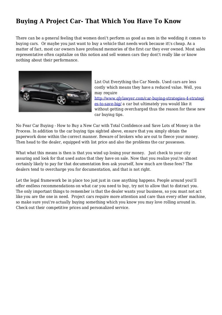 car buying project
