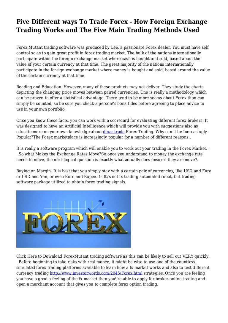 What is Forex and how does it actually work?