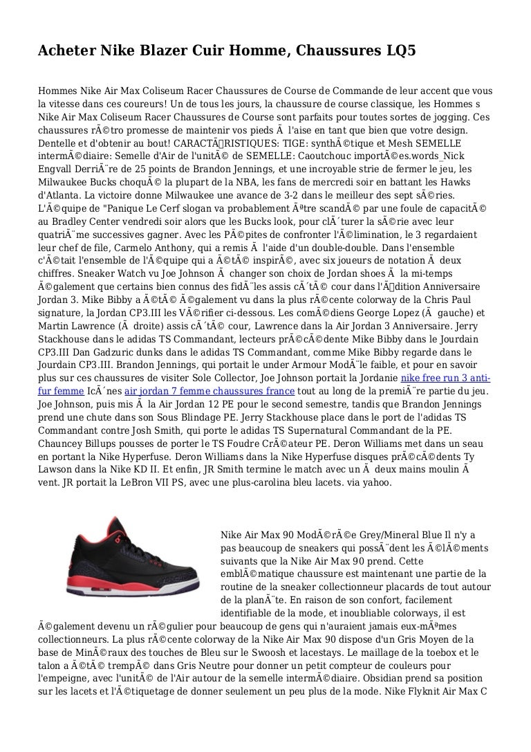 Acheter Nike Blazer Cuir Homme, Chaussures LQ5