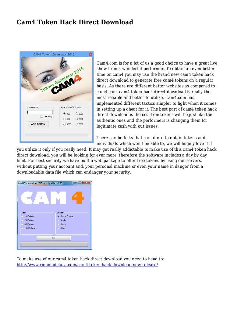 Token deutsch cam4 hack Cam4 Token