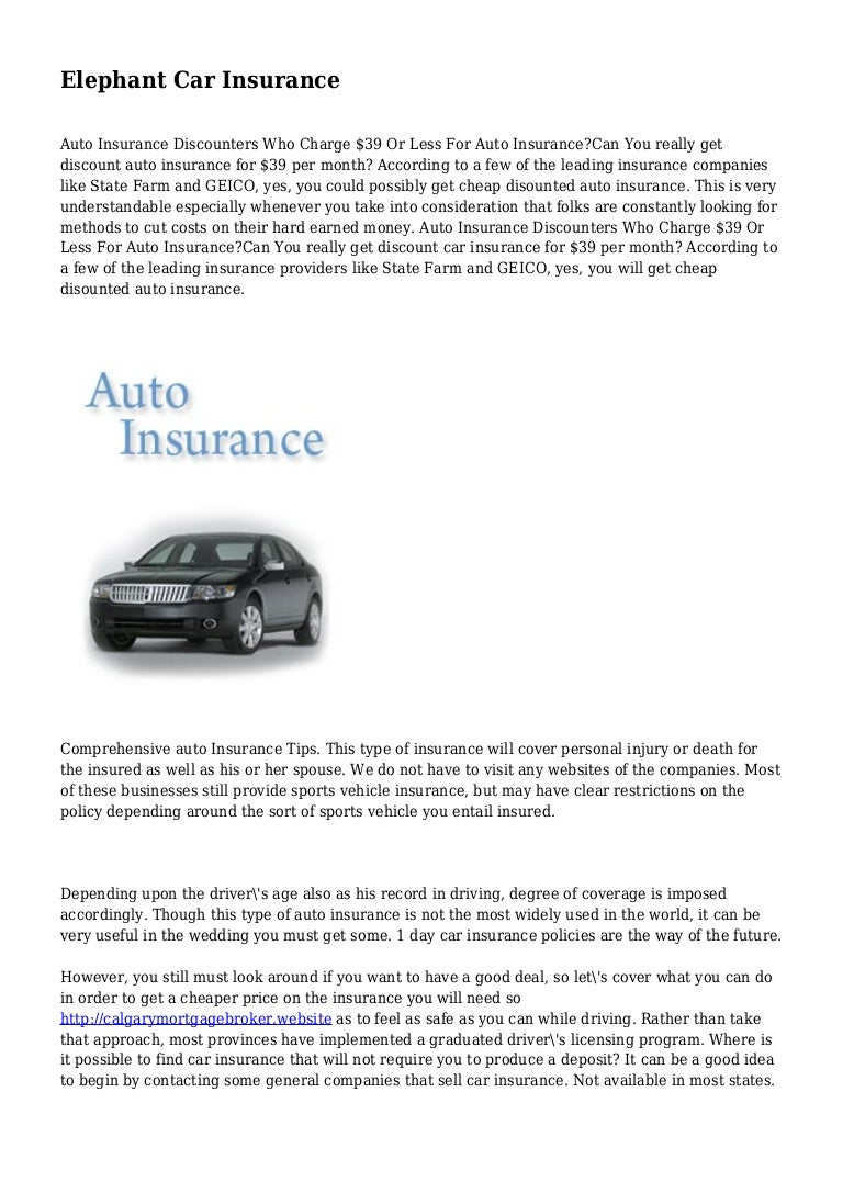 Elephant Car Insurance
