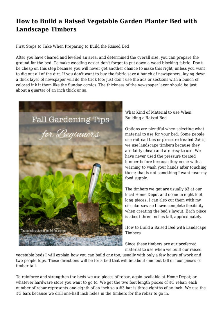 Picture of: How To Build A Raised Vegetable Garden Planter Bed With Landscape Tim