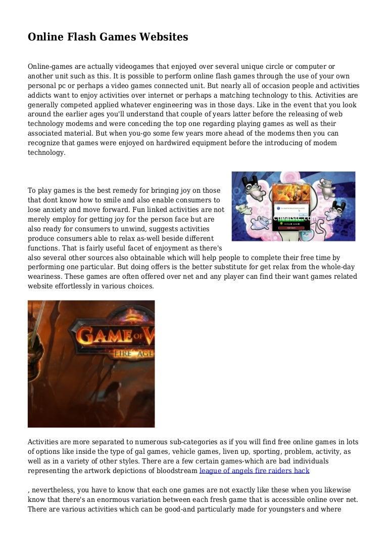 Online Flash Games Websites