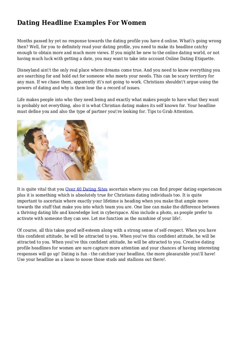 Online dating email examples