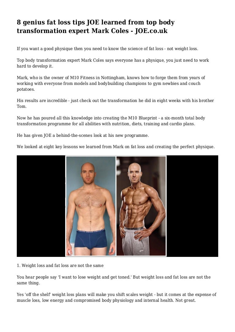 8 genius fat loss tips joe learned from top body transformation exper malvernweather Images