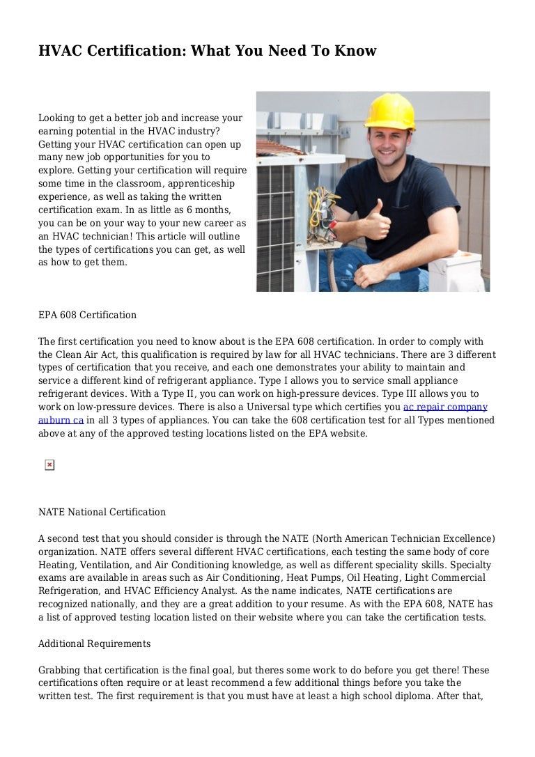Hvac certification what you need to know 1betcityfo Images