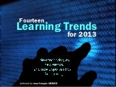 14 learning trends for 2013