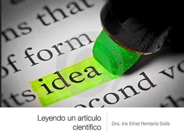 UVM Metodología de la Investigación Sesión 14 Lectura critica