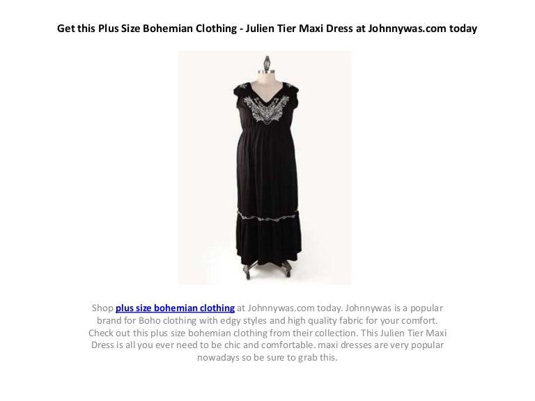 Get This Plus Size Bohemian Clothing Julien Tier Maxi Dress At John
