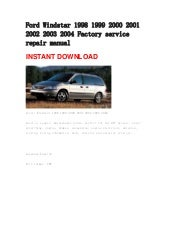ford windstar repair manual 1995 2003 rh slideshare net 2002 Ford Windstar 2003 Ford Windstar