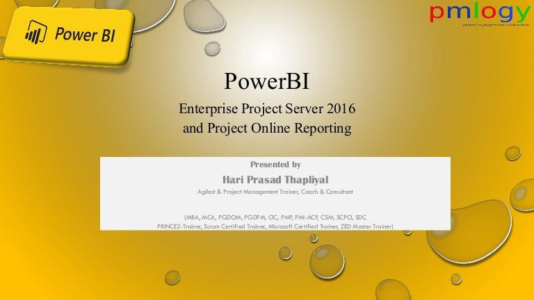 Power Bi Reporting Project Online