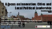 Focus on innovation CITIES ECPR Presentation by Olga Gil