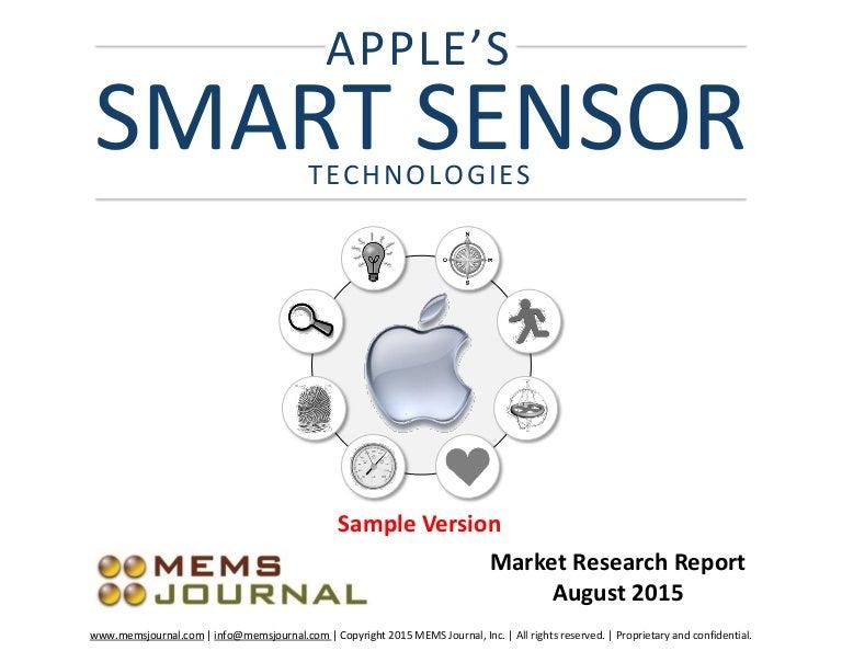 Apple's Smart Sensor Technologies -- market research report (sample)
