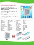 150W LED Gas Station Specification